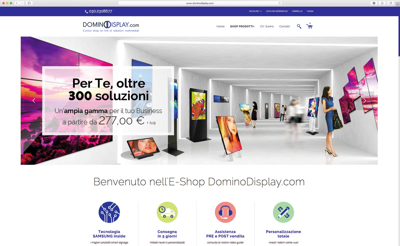 Dominodisplay.com il nuovo online shop